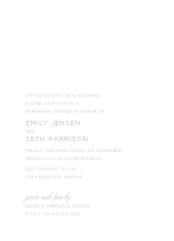 Rehearsal Dinner Invitation - young love