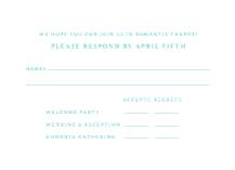 Response Card - versailles
