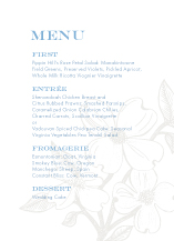 Menu - flowering dogwood