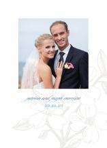 Wedding Thank You Card with photo - flowering dogwood