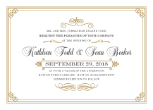Wedding Invitations - storybook romance