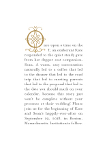 Save the Date Card - storybook romance