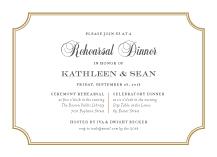 Rehearsal Dinner Invitation - storybook romance