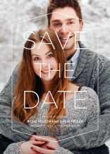 Save the Date Card with photo - etched in stone