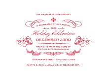 Holiday Party Invitations - christmas flourish