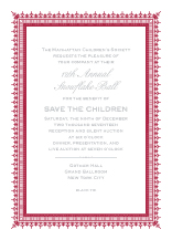 Holiday Party Invitations - snowflake ball