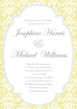 Wedding Invitations - darling damask