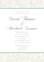 Wedding Invitations - rose garden