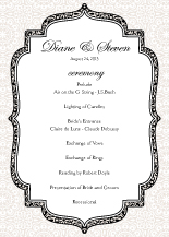Wedding Program - simple elegance
