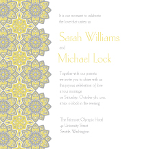 Wedding Invitations - moroccan medallion