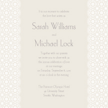 Wedding Invitations - vintage chic