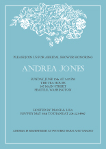 Wedding Shower Invitation - elanore's garden