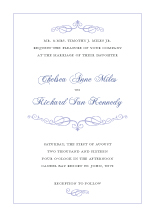 Wedding Invitations - crown scroll