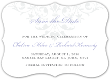 Save the Date Card - ornate scroll