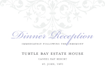 Reception Card - ornate scroll