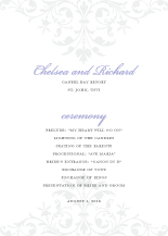 Wedding Program - ornate scroll