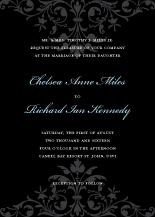 Wedding Invitations - ornate scroll