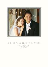 Wedding Thank You Card with photo - garden swirl