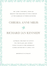 Wedding Invitations - botanical border