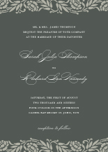 Wedding Invitations - rose branches