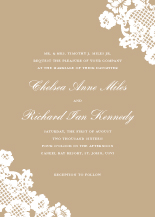 Wedding Invitations - floral lace