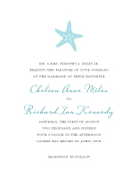 Wedding Invitations - nautical starfish