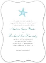 Wedding Invitations - nautical starfish