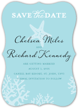 Save the Date Card - nautical starfish