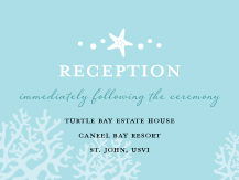 Reception Card - nautical starfish