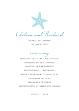 Wedding Program - nautical starfish