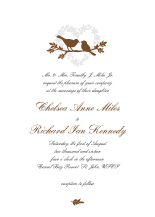 Wedding Invitations - love birds heart