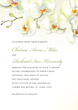 Wedding Invitations - watercolor orchids