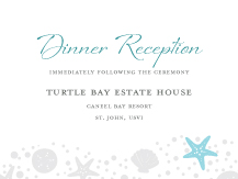 Reception Card - nautical collection