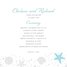 Wedding Program - nautical collection