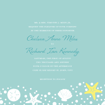 Wedding Invitations - nautical collection