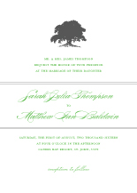 Wedding Invitations - earthy tree