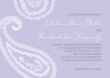Wedding Invitations - paisley flourish