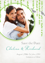 Save the Date Card with photo - mid summer afternoon