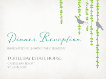 Reception Card - mid summer afternoon
