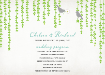 Wedding Program - mid summer afternoon