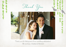 Wedding Thank You Card with photo - mid summer afternoon