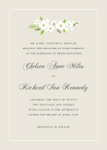 Wedding Invitations - eidelweiss garland