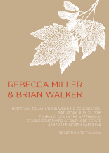 Wedding Invitations - transparent leaves