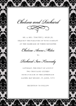 Wedding Invitations - classic damask border