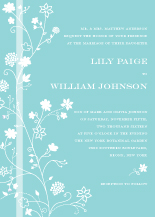 Wedding Invitations - delicate blossoms
