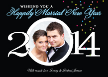 New Years Cards - new year happily married 2013