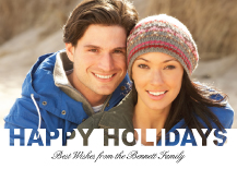 Holiday Cards - happy holiday cut out