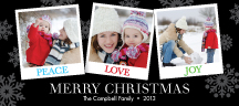 Holiday Cards - holiday snapshots snowflakes