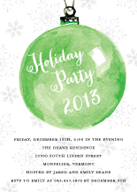 Holiday Party Invitations - holiday ornament invitation