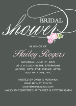 Wedding Shower Invitation - rosettes